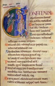 Psalm 106 in St Albans Psalter